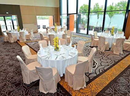 Banquet Setup In Ballroom