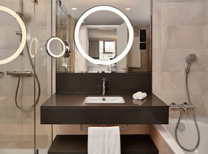 King Suite Bathroom with Shower and Tub