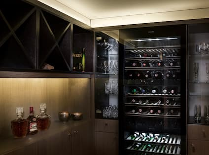 Penthouse Presidential Suite Wine Display