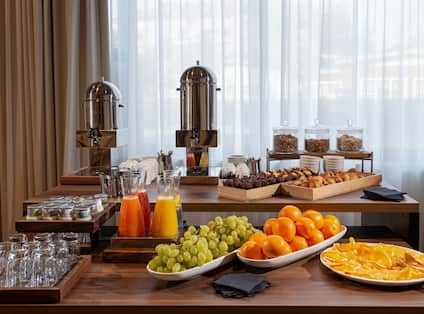Breakfast area with fruit