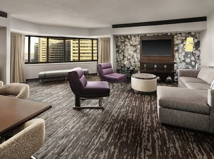 Presidential Suite Living Room with Lounge Area and Room Technology