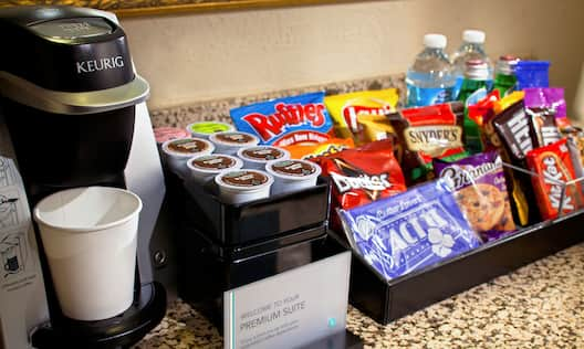 Premium Suites Snacks and Coffee Station