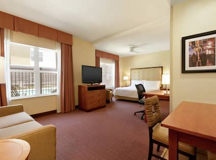 Accessible King Studio Suite With Pool View