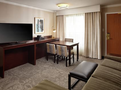 Suite with Living Room, Work Desk, and Room Technology