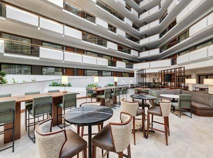 Hotel Atrium Seating Area