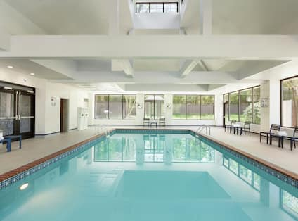 Indoor Pool and Lounge Area