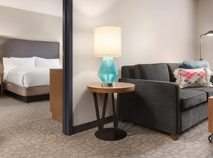 Bedroom Suite with Seating Area and King Bed