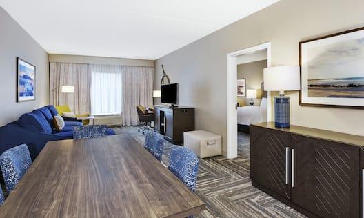 King Bedroom Suite Living Area