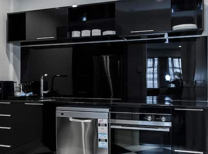 Kitchen in Deluxe Two-Bedroom Apartment