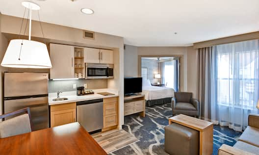 Suite Living Room and Kitchen