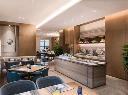 Executive Lounge Dining Area and Food