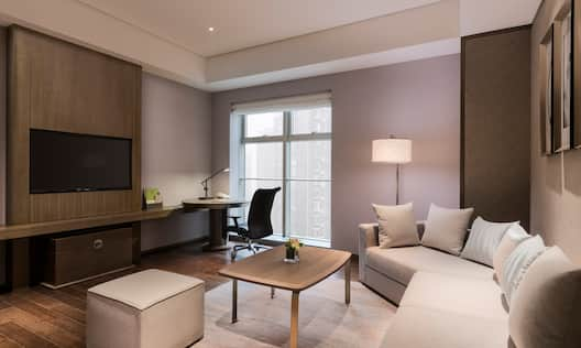 Suite Living Room Seating, TV and Desk