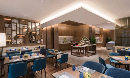 Executive Lounge Seating and Dining Area