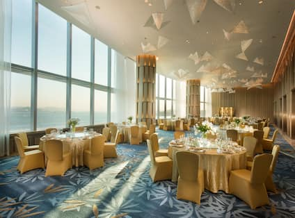 The Foyer of Conrad Ballroom has enough space for events and weddings as reception area