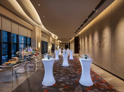 Grand Ballroom Foyer with Tables Set Up