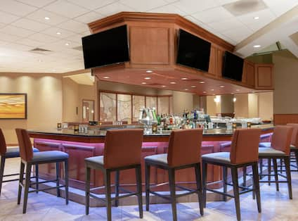 Lobby Bar with Televisions and Seats