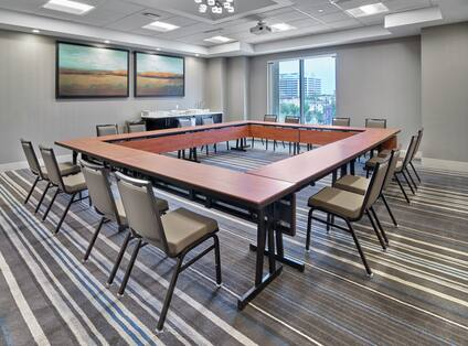 Renoir Meeting Room with Hollow Square Setup