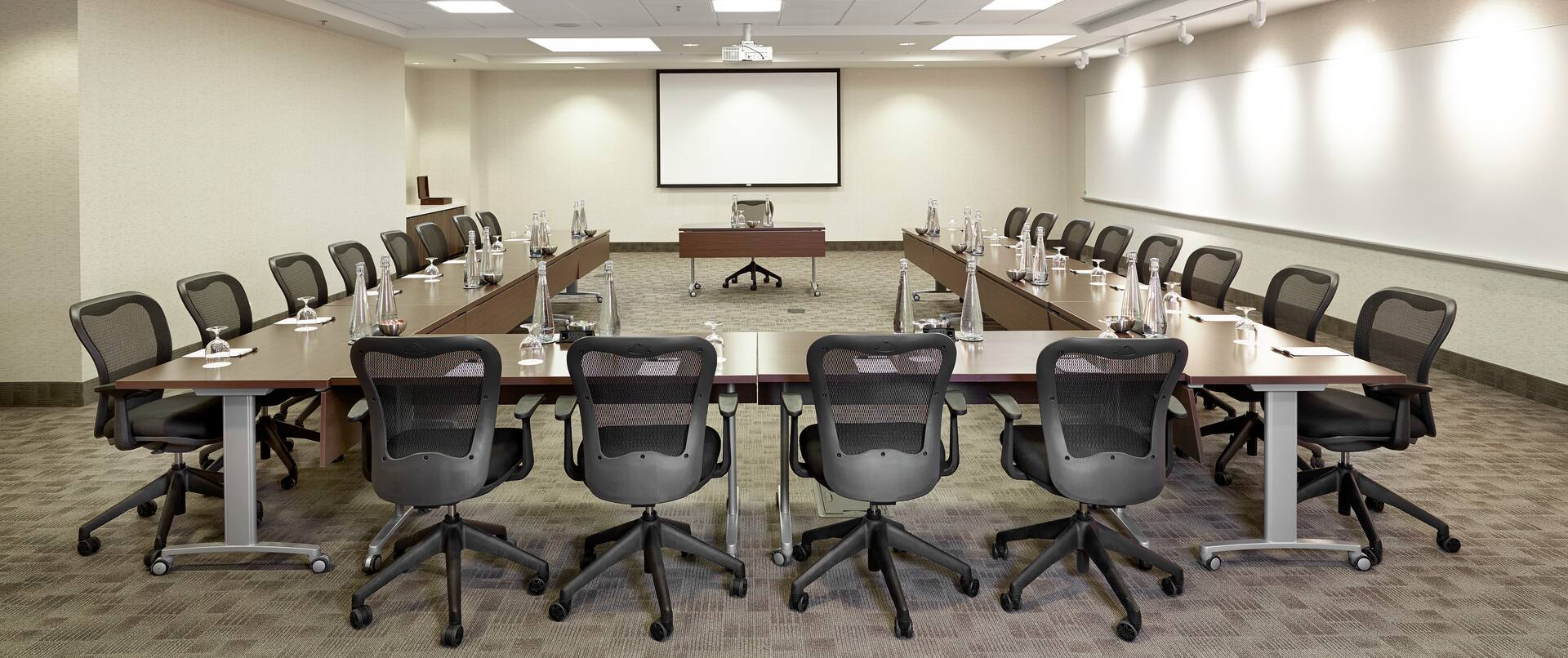 SilverBirch Conference Center Meeting Room with U-Shape Tables Setup
