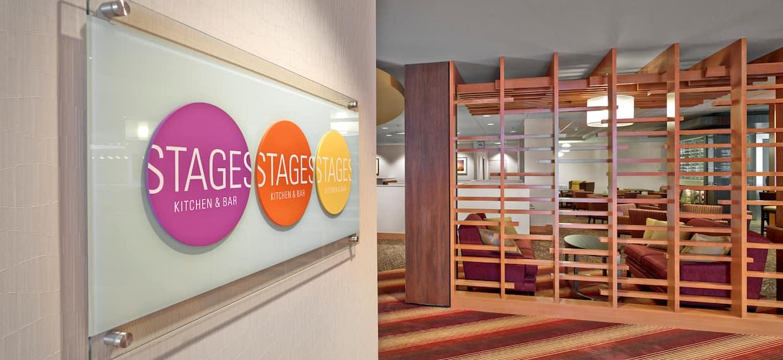 Stages Restaurant Entrance Sign