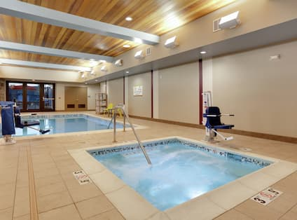 Indoor pool with whirlpool