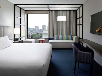 Single King City View Guest Room