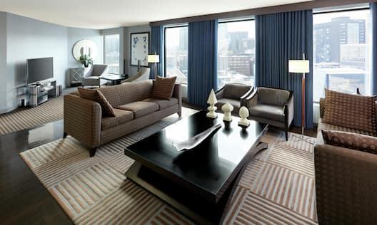Single King Presidential Suite Presidential Living Area