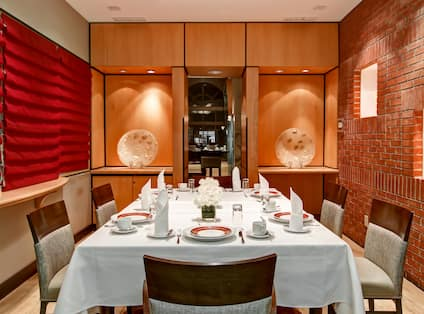 Private Dining Room with Dining Table for Six
