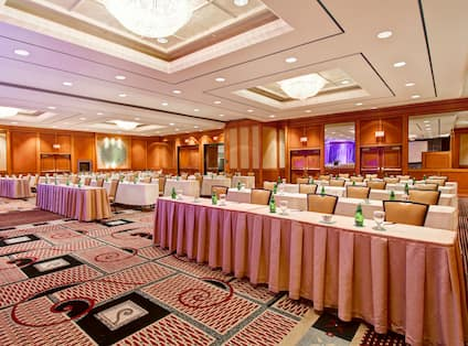 Large ballroom with theatre style seating