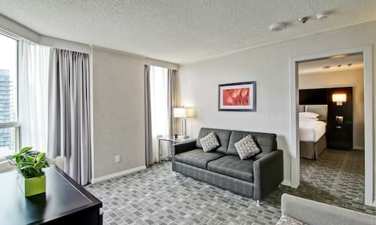 1 King 2 Room Suite Living Room Area with Sofa