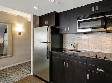 Kitchen Area of 2 Room Deluxe Suite