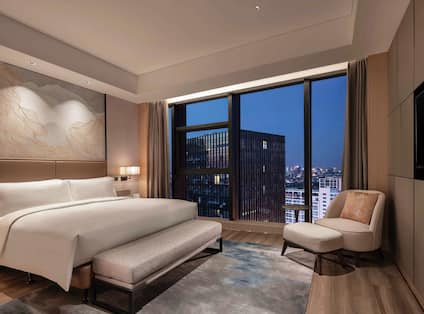 Suite Bedroom with King Bed, Television and City View