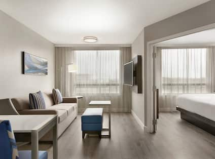 King Suite Living Area with Sofa and HDTV