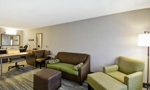 Queen Studio Suite with Work Desk and Sofa Bed