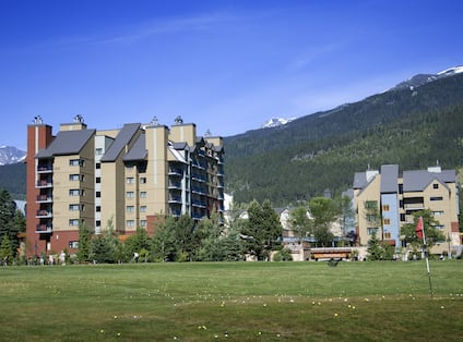 Golf Course and Mountainside View of Hotel