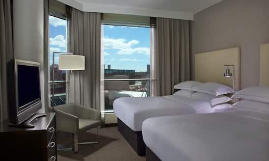 Two Double Beds Corner Suite Bedroom