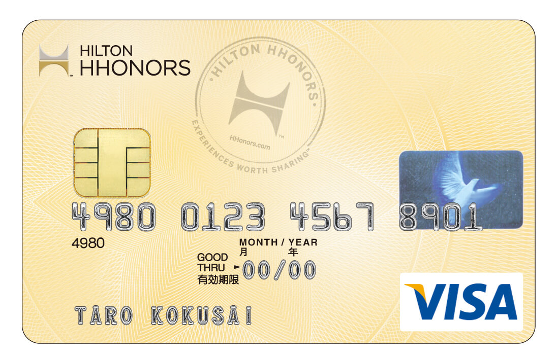 Credit card rewards with the Gold Hilton Honors Visa Card from Sumitomo Mitsui Card Co. Ltd.