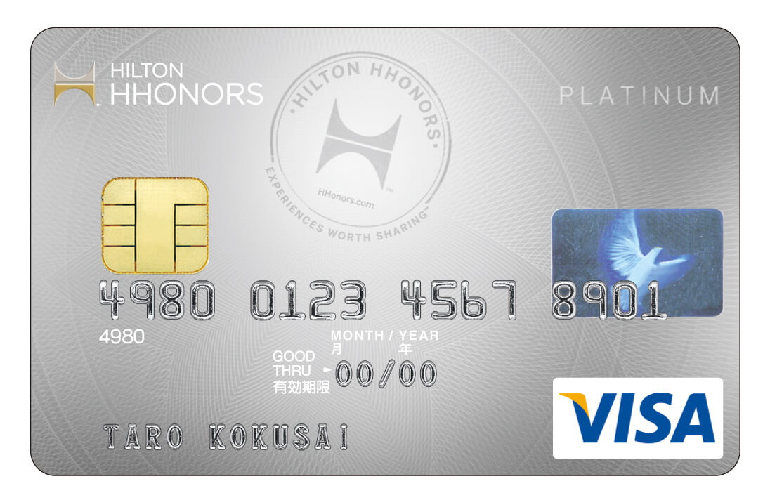 Credit card rewards with the Platinum Hilton Honors Visa Card from Sumitomo Mitsui Card Co. Ltd.